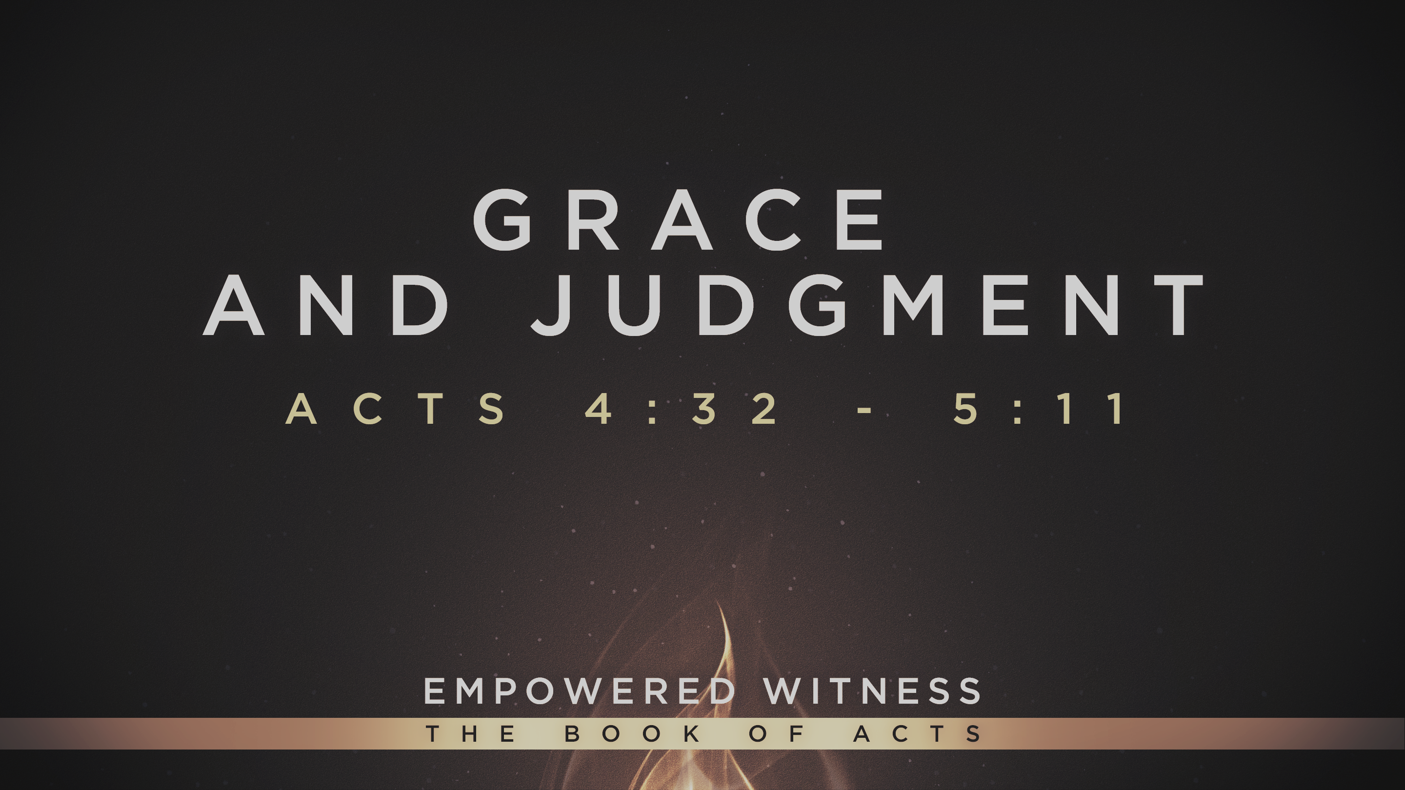 Grace & Judgment